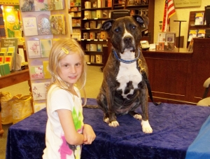 Mall Of America Barnes & Noble...This young Lass is a cancer survivor. She wanted to meet Ruby, who is also a survivor.