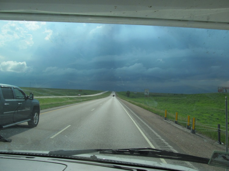 Heading into a storm on the Great Plains